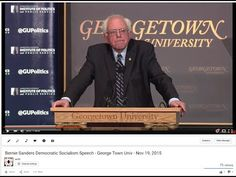 Bernie Sanders Democratic Socialism FULL Speech - Georgetown Univ - Nov 19, 2015 - YouTube