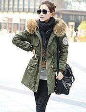 Női prémes gallér vastag, hosszú kabát – EUR € 72.76
