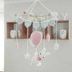 Mesmerizing Crochet an Amigurumi Rabbit Ideas. Lovely Crochet an Amigurumi Rabbit Ideas. Crochet Bebe, Crochet For Kids, Diy Crochet, Crochet Toys, Crochet Baby Mobiles, Crochet Mobile, Crochet Dinosaur, Dream Baby, Diy Décoration