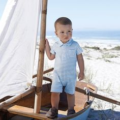 Short Sleeve Shortie | The White Company. Shopping from the US? -> http://us.thewhitecompany.com/The-Little-White-Company/Baby-Clothing/Short-Sleeve-Shortie/p/SHTTE?swatch=Blue+Stripe