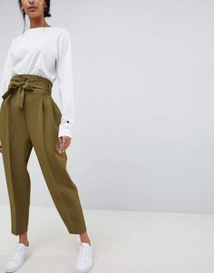 Asos DESIGN high waist balloon tapered PANTS