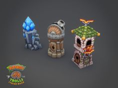 handpainted assets for TD game - Polycount Forum