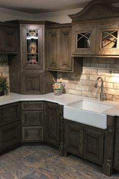 Home Renovation Ideas – Interior And Exterior - Home Remodeling Beautiful Kitchens, Cool Kitchens, Remodeled Kitchens, Small Kitchens, Home Renovation, Home Remodeling, Kitchen Remodeling, Rustic Kitchen Cabinets, Kitchen Sink