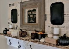 Cute And Cozy Rustic Fall And Halloween  Décor Ideas _38
