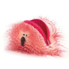 074c1fea11 By Jellycat Flaunt Your Feathers Fluffy Bag - Side View - £18.95