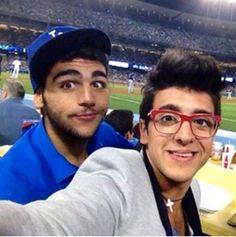 Ignazio and Piero at the Dodgers game
