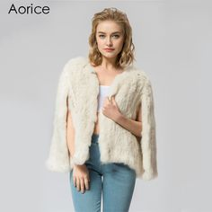 >> Click to Buy << CR069-2 Knitted knit  real rabbit fur coat overcoat jacket Russian women's winter thick warm genuine fur coat #Affiliate