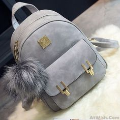 Leisure Frosted PU Zippered Bag With Metal Lock Match School Backpack Lace  Backpack d2e8a802b