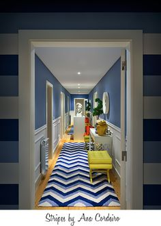 I flipping love the GIANT mirror at the end of this hallway, it makes it feel massive!
