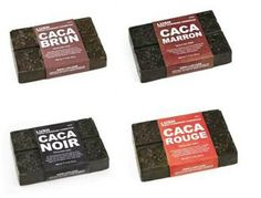 These henna blocks dye your hair without damage! Brun = Brown, Marron = Beautiful Auburn, Rouge = Flaming Ginger, and Noir = Inky Dark. These double as hair treatments with cocoa butter to leave your hair ridiculously shiny! Google Image Result for http://www.cityist.com/wp-content/uploads/2012/06/image001.jpeg