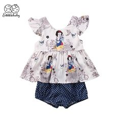 Emmababy Newborn baby girl clothes set summer Snow White Princess floral T shirt | eBay  https://presentbaby.com
