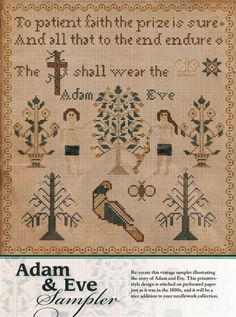 When you think crochet, you simply must think the June 2016 issue of Just CrossStitch magazine! Embroidery Sampler, Hardanger Embroidery, June Bride, Cross Stitch Magazines, Just Cross Stitch, Bolster Pillow, Adam And Eve, Red Poppies, Primitive