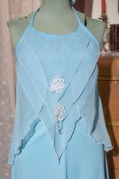 VTG Powder Blue 1970's Evening Gown with by TheTarrowBoutique, $45.00