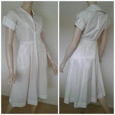Vintage Nurse Uniform 40s/50's Dress by Joannesvintagecloset