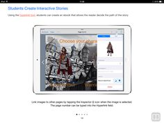 Book Creator Teacher Guide - interactive stories