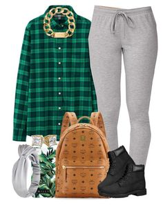 """""""Back to School Fit #2"""" by livelifefreelyy ❤ liked on Polyvore featuring Uniqlo, Forever 21, MCM, Milly, Timberland and Michael Kors"""