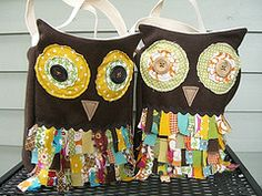 Scrappy Owl Bag - Great for Trick or Treating!