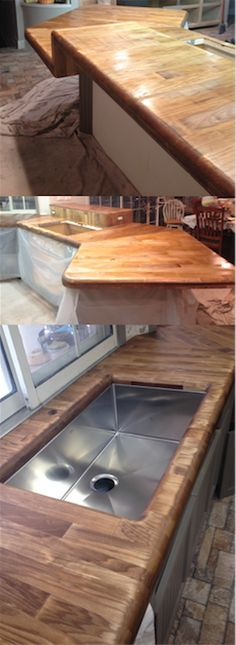 Steve did an amazing job using Real Milk Paint's Dark Tung Oil on his Aspen counters in his kitchen!