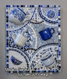 MosaicsGarden by Nancy Keating Mosaic Garden Art, Mosaic Tile Art, Mosaic Pots, Mosaic Glass, Mosaic Mirrors, Stained Glass, Fused Glass, Mosaic Art Projects, Mosaic Crafts