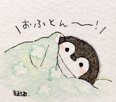 コロッケ(@taipinng)さん | Twitterがいいねしたツイート Cute Animal Drawings, Kawaii Drawings, Doodle Drawings, Cute Drawings, Pinguin Drawing, Penguin Art, Penguin Cartoon, Arte Fashion, Bird Artwork