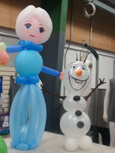 frozen-Elsa & Olaf balloon models