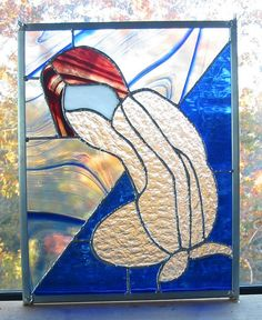 Female Figure in Stained Glass Panel by StainedGlassCountry