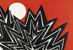 Alexander Calder 1898 - 1976 UNTITLED dated 72 and dedicated Nannette from Sandy gouache on paper 29 3/8 by 43 1/4 in. 74.6 by 109.9 cm. Executed in 1972, this work is registered in the archives of the Calder Foundation, New York, under application number A27379.