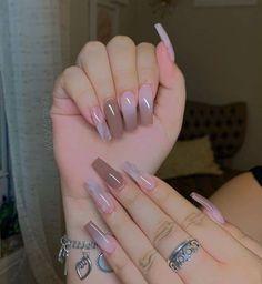 Sexy Nails, Dope Nails, Black Nails With Glitter, Glitter Nails, Acylic Nails, Long Nail Designs, Pink Acrylic Nails, Nail Photos, Nail Jewelry