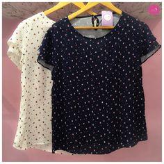 Um blusa linda e de estampa delicada! #Vemprazas
