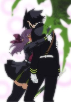 I've never seen this characters or this manga before, but here it is! Yuichiro and Shinoa from Seraph of the end enjoy! Seraph of the end Yuichiro and Shinoa Shinoa Hiiragi, Yandere Girl, Michael Jordan Basketball, Romantic Manga, Mikaela Hyakuya, Anime Group, Anime Gifts, Seraph Of The End, Owari No Seraph