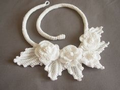 Crocheted Cotton Floral Necklace