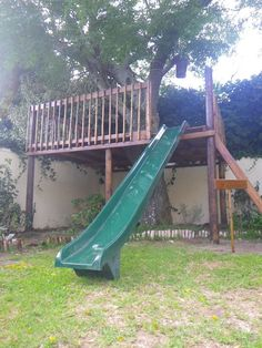 Tree Deck A Slide Maybe Put In A Rope Swing And A Second Deck Under Neath  For A Sheltered Approach With Connecting Corner Walls Facing Any Home  Interior Add ...