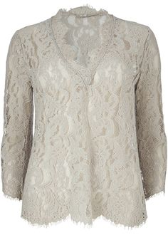 Gustav Bluse blonde lys sand 22620 Long Lace V-neck - 84 champagne – Acorns
