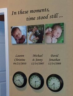 like the idea of having kids names and time of birth-maybe just not the clocks