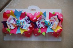 My Little Pony Rainbow Dash Inspired Bow. $8.00, via Etsy.