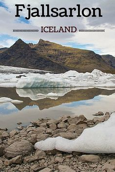 Fjallsarlon on the South Coast of Iceland is the lesser known glacier lagoon. The icebergs are not as impressive as in Jokulsarlon but the place is as magical - Click to open the guide with many photos and detailed information to plan your visit