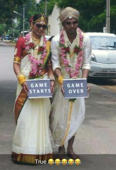 Marriage Game Starts Game Over Bride groom – Game starts Groom – Game Over Funny Love Jokes, Funny School Memes, School Humor, Hilarious, Marriage Games, After Marriage, Marriage Humor, Comedy Quotes, Funny Comedy
