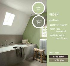 Groen zorgt voor rust in het interieur, haal de natuur naar binnen en voel je prettig met bijvoorbeeld Clear Leaf in de badkamer.