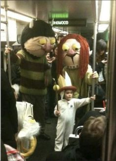 "World's best parents for putting together Halloween costumes like this. ""Where The Wild Things Are"""