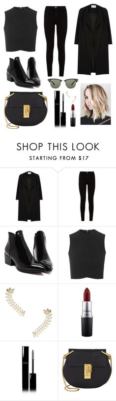"""You can never go wrong with an all black outfit"" by micalkalimi on Polyvore featuring River Island, 7 For All Mankind, Topshop, MAC Cosmetics, Chanel, Chloé, Ray-Ban, women's clothing, women and female"