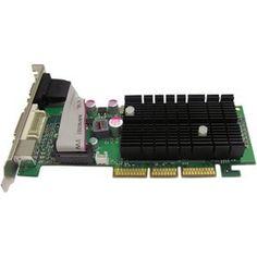 Jaton GeForce 6200 Graphics Card GEFORCE AGP8X 4X LP ATX 512MB DDR2 VGA DVI I TV OUT 250W NVIDIA