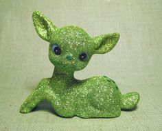 Green glitter holiday deer. Buy one if you don't have time to make them!