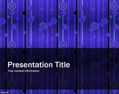 Elegant Pattern PowerPoint Template is a blue theme for PowerPoint presentations with a strange but elegant background with tile pattern effect