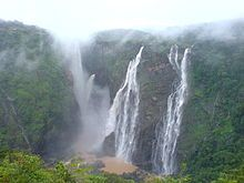 Jog Falls before monsoon, it is not very powerfull