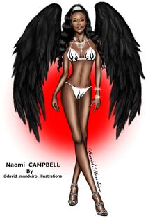 @Naomi Campbell by @David Mandeiro Illustrations.❤️❤️❤️