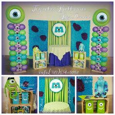 Party monsters, inc. Monster University Birthday, Monster 1st Birthdays, Monster Birthday Parties, 1st Boy Birthday, 2nd Birthday Parties, First Birthdays, Birthday Ideas, Party Favors, 1st Birthday Party Invitations