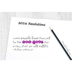 Many people look forward to the new year for a new start on old habits. ~Author Unknown