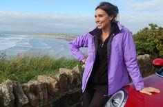 Christine Bleakley at Rossnowlagh on Irelands Atlantic Coast