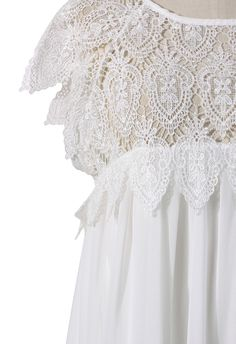 Swing white dress with lace top