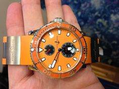 PART OF OUR COLLECTION- Just got in Super Stylish Ulysse Nardin Maxi-Marine Diver- Orange